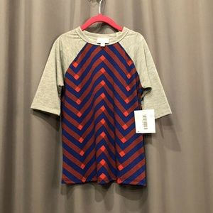 LuLaRoe Sloan Size 6 Gray Red Royal Blue Unisex